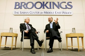 Indyk, left, seen here with Iraqi official Barham Salih,