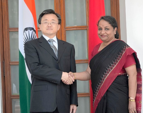 Indian Foreign Secretary Sujatha Singh and her Chinese counterpart Vice Foreign Minister Liu Zhenmin will review the entire range of bilateral relations [Image Courtesy: Ministry of External Affairs India]