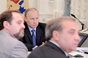 At a meeting on Saturday, Putin said the damage has been severe [Presidential Press Office]