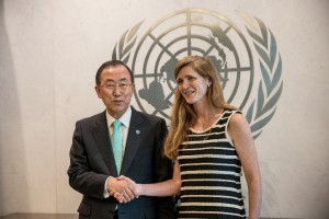 The US Senate voted 87-10 in favor of Samantha Power as the new US ambassador to the UN in August [Getty Images]