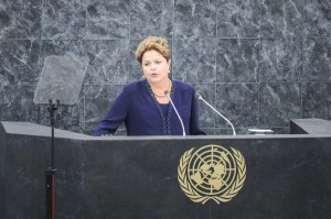 Rousseff told the world body that only a political solution will work to resolve the Syrian crisis [Xinhua]