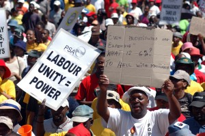 Labour protests have plagued successive governments for several years in South Africa [Getty Images]