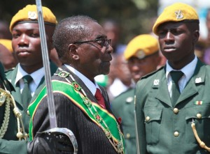 """He vowed to make Zimbabweans """"significant stakeholders and not mere bystanders to the running of the national economy"""" [AP]"""