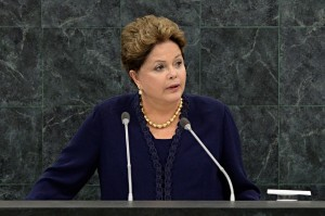 Rousseff delivered the opening address at the UN General Assembly on Tuesday [AP]
