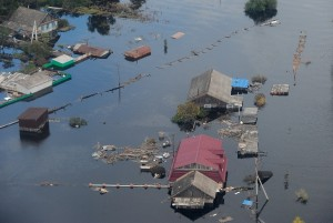 Over 50 towns and villages are flooded across the Khabarovsk Territory and some 1,800 residential buildings have been inundated [AP Images]