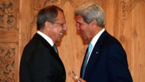 Lavrov (left) and Kerry (right)  discussed preparations and the evolving humanitarian crisis [AP]