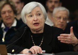 Yellen did not provide a timetable for cutting back on the stimulus programme [Getty Images]