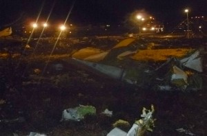 Scene of the Tatarstan Boeing 737 crash [AP]