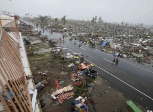 Typhoon Haiyan leveled and flooded many towns and villages in the Philippines [AP]