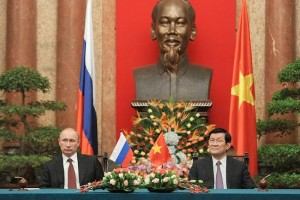 "President Truong Tan Sang said Vietnam ""has always considered Comrade Putin our very close friend."" [PPIO]"
