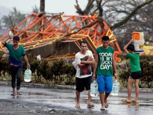 """I don't know how to describe what I saw. It's horrific,"" Interior Secretary Manuel Roxas, who flew to Tacloban city on Saturday, said on television footage [AP Images]"