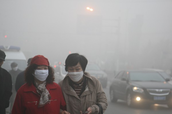The northeastern city of Harbin was forced to close schools due to the heavy smog on October 22 [Getty Images]