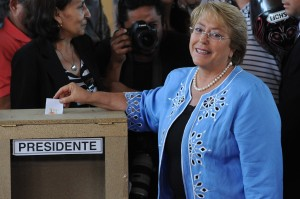 Bachelet won a resounding victory in the runoff election on Sunday [Xinhua]