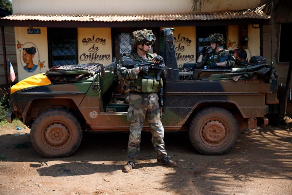 France deployed 1,600 troops to the Central African Republic in a bid to end militia fighting there [AP]
