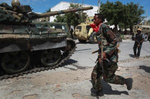 File photo of an African Union (AMISOM) tank on August 17, 2011 in Mogadishu, Somalia [Getty Images]