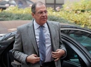 Russia's Foreign Minister Sergey Lavrov arrives for an EU foreign ministers meeting at the European Council building in Brussels, Monday, Dec. 16, 2013 [AP]