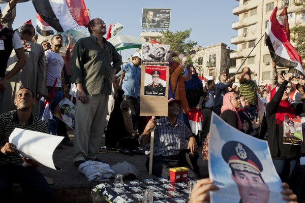 El-Sissi, who is headed for a landslide victory, is seen by some Egyptians as a hero who saved the country from the Muslim Brotherhood [Getty Images]
