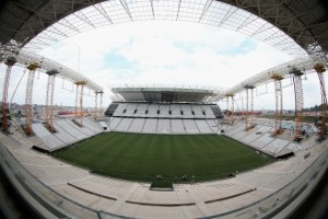 Construction continues at the Arena de Sao Paulo venue for the FIFA 2014 World Cup Brazil [Getty Images]