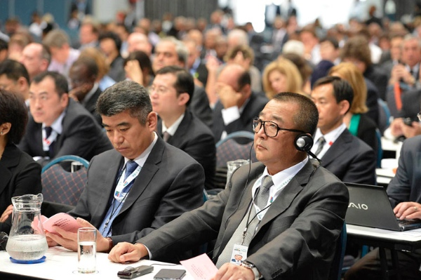 Chief executives of major companies in BRICS attend the BRICS Business Council meet in Johannesburg in August [GCIS]