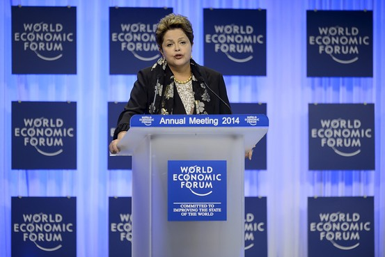 Rousseff was addressing the 2500 political and business leaders gathered at the elite Swiss ski resort [World Economic Forum]