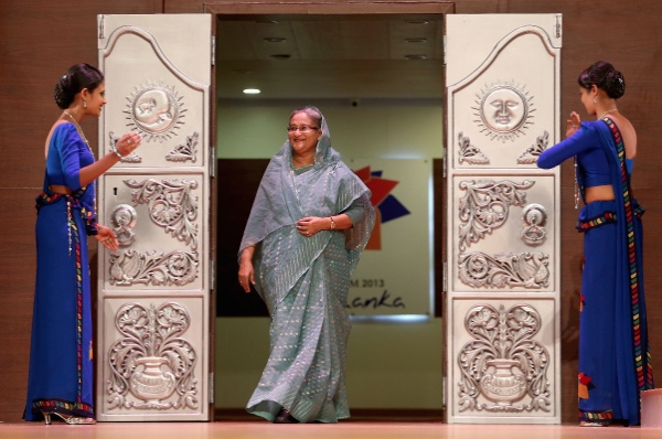 Sheikh Hasina Prime Minister of Bangladesh on stage at the Commonwealth Heads of Government 2013 Opening Ceremony on November 15, 2013 in Colombo, Sri Lanka [Getty Images]