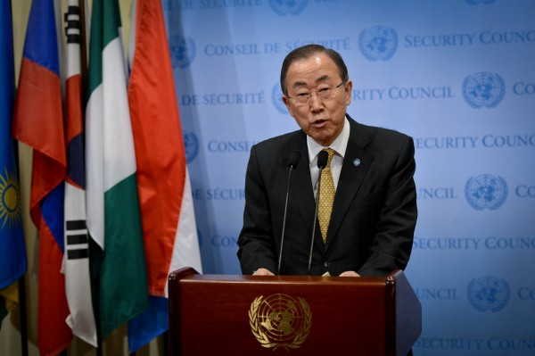 "UN Secretary-General Ban Ki-Moon warned of a ""calamity"" if additional troops aren't sent to Bangui [Xinhua]"