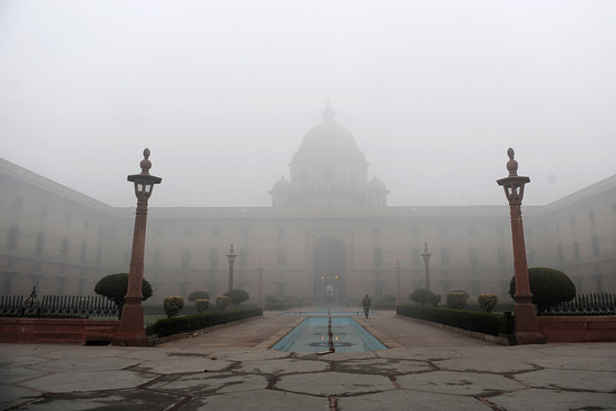 Fog is common in northern India only during the winter months of December and January [Getty Images]