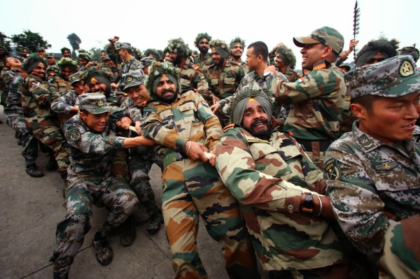 China-India joint military exercises will be held in India this year after Beijing hosted them in 2013 [Xinhua]