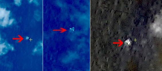 The SASTIND said on its website on Wednesday that the three suspected objects were monitored at 6.7 degrees north latitude and 105.63 degrees east longitude, spreading across an area with a radius of 20 kilometers [Xinhua]