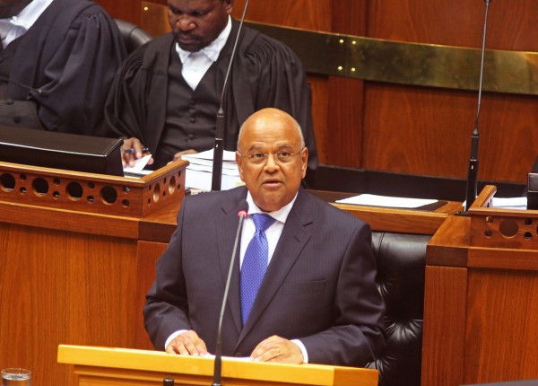 Gordhan delivered the annual budget speech to Parliament in Cape Town on February 26 [AP]