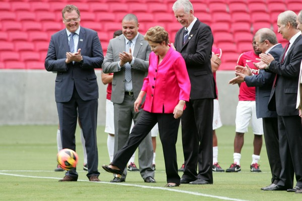 President Dilma Rousseff said that the infrastructure projects are for all Brazilians, not just the World Cup [Xinhua]