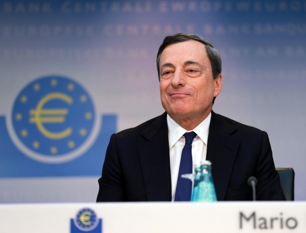 In a surprise move, Draghi said that the ECB did discuss quantitative easing as a means to boost eurozone economies [Xinhua]