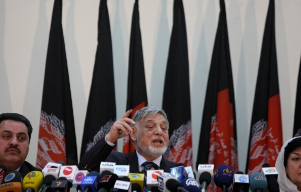 Presidential hopeful Abdullah Abdullah is in lead as 49.75 per cent of votes have been counted, election commission chief Mohammad Yusuf Nuristani said at a press conference on Saturday [Xinhua]