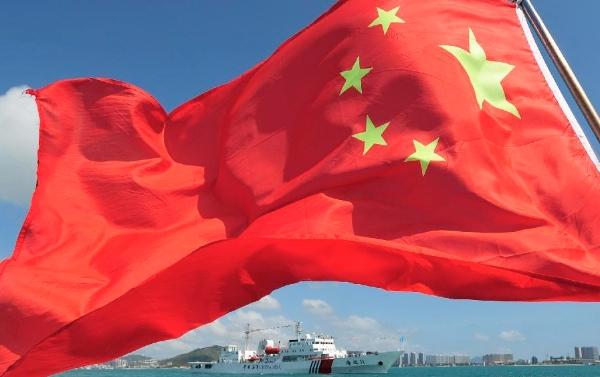 "File photo of a Marine patrol ship ""Haixun 31"" sails out of the Chinese port of Sanya for the South China Sea, Feb. 28, 2013 [Xinhua]"