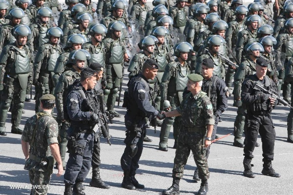 A 20,000-strong army of local and federal police officers, and military troops, are set to reinforce security in Rio, local authorities announced on Wednesday [Xinhua]