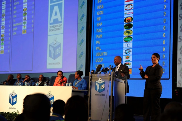 Although South Africa's Independent Electoral Commission (IEC) said that voting results this year are being collated faster than earlier elections, the final result will only be available by late on Friday or early Saturday as votes are counted in the 22,263 polling stations [GCIS]