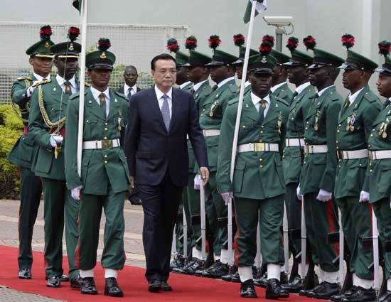 China, Li vowed, will earmark more than half of its foreign aid for Africa without preconditions [Xinhua]
