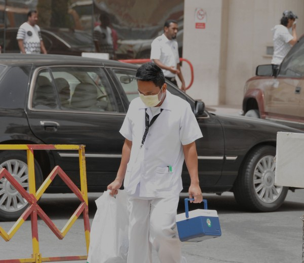 A health-care worker in Khobar, Saudi Arabia where the coronavirus was first detected in 2012 [Xinhua]