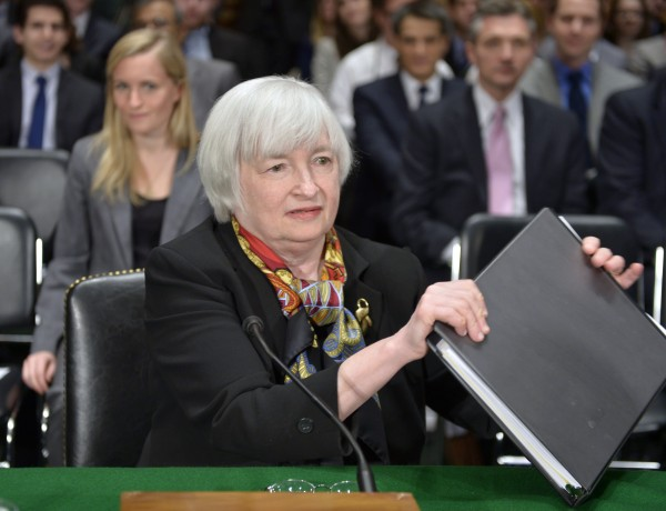 US Fed Chief Janet Yellen, seen here during a congressional testimony in February, said that [XInhua]