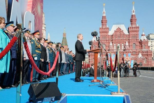 "This is the day of our national triumph, people's pride, the day of grief and an imperishable memory,"" Putin said in his Victory Day address to Russians on May 9, 2014 at the Red Square in Moscow, Russia [PPIO]"