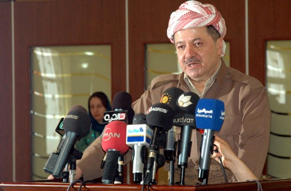 Kurdish regional government President Masoud Barzani indicated his forces would protect Kurds from Islamic State fighters in Syria [Xinhua]