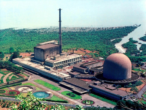 Two nuclear research reactors, Dhruva, left, and Cirus, right, within the Bhabha Atomic Research Center on the outskirts of Bombay, India's top nuclear facility, is shown in this undated photo [AP]