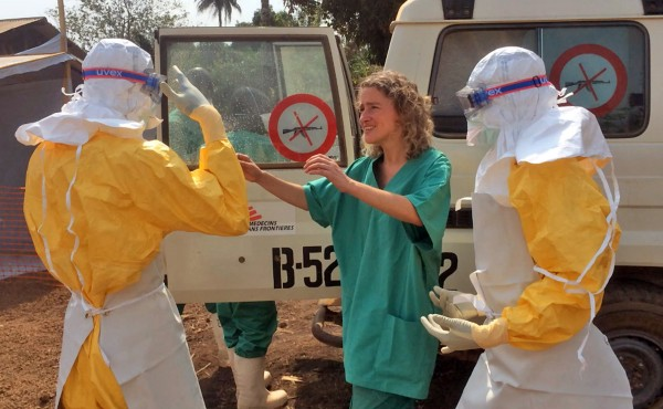 MSF medical volunteers deployed in Guinea earlier this year to help the government battle the ebola outbreak [MSF/AP]