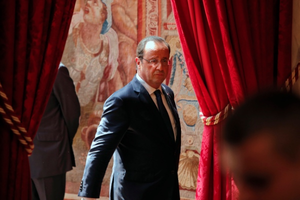File photo of French President Francois Hollande at the Elysee Palace in Paris [AP]