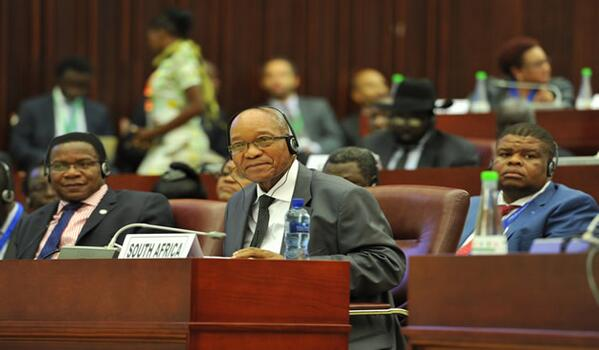 President Zuma at the commemoration of the establishment of the AUPSC on the margins of the AU Summit in Malabo 26 June 2014 [GCIS]