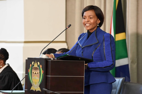 South African Minister of International Relations and Cooperation Maite Nkoana-Mashabane delivers her Budget Vote in Parliament on 22 July 2014 in Cape Town, South Africa [GCIS]