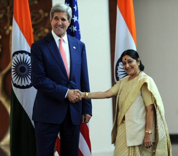 External Affairs Minister Sushma Swaraj told Kerry that