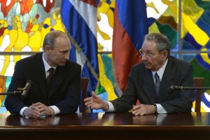 Putin met with Cuban leader Raul Castro on July 11 - a move that Russian media said was a snub to Washington [PPIO]