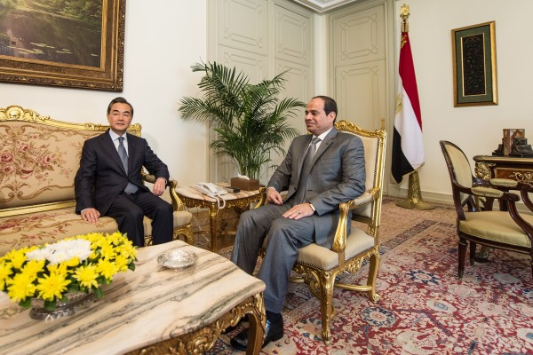 Wang also met with Egyptian President Abdel-Fatah El-Sissi and conveyed Beijing's continued support for the government in Cairo [Xinhua]