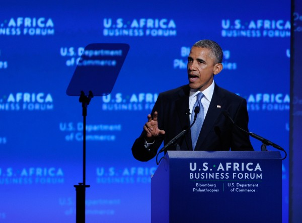 """We don't look to Africa simply for its natural resources; we recognize Africa for its greatest resource, which is its people and its talents and their potential,"" Obama told visiting African delegations [Xinhua]"